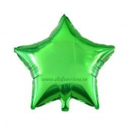 Balon Stea Verde Metalizata 45cm
