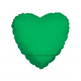 Balon Inima Verde Metalizat 45cm