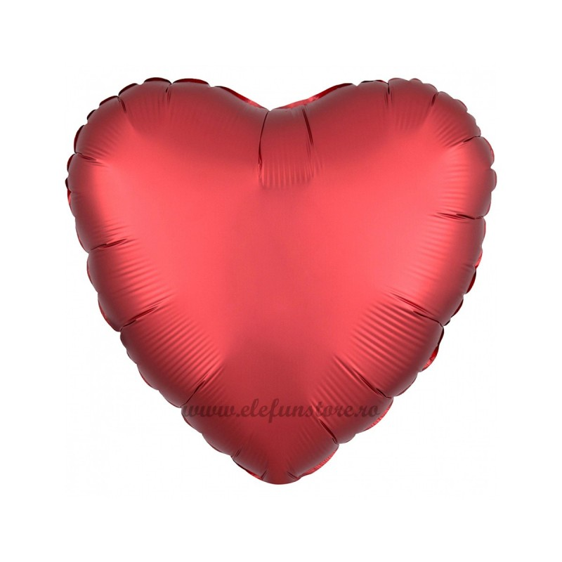 Balon Inima Rosu Satin