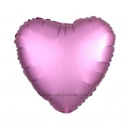 Balon Inima Roz Satin