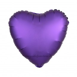 Balon Inima Mov Satin