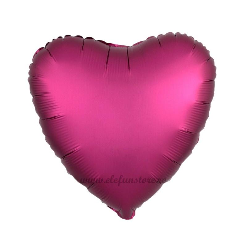 Balon Inima Burgundy Satin