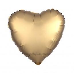 Balon Inima Auriu Satin