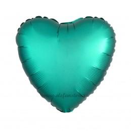 Balon Inima Verde Satin