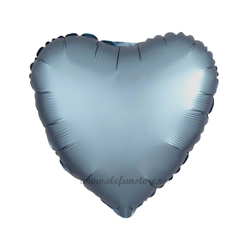 Balon Inima Bleumarin Satin
