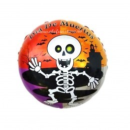 Balon Rotund Halloween Skeleton