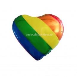 Balon Inima Curcubeu