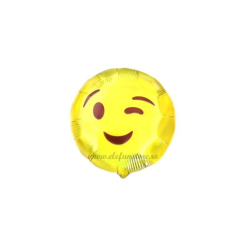 Mini Balon Emoticon Wink