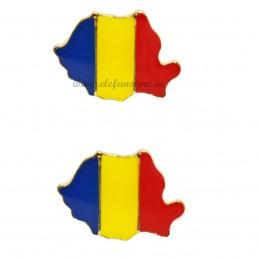 Set 2 Insigne Harta Romania