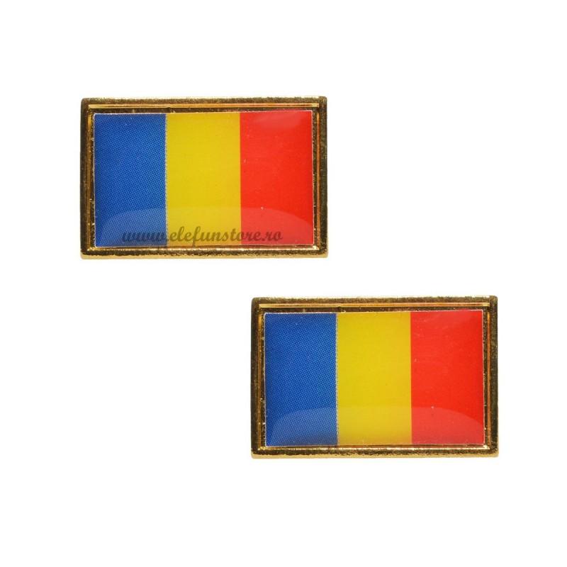 Set 2 Insigne Steag Romania