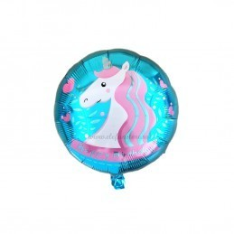 Balon Unicorn Party Bleu