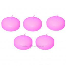 Set 5 lumanari plutitoare roz