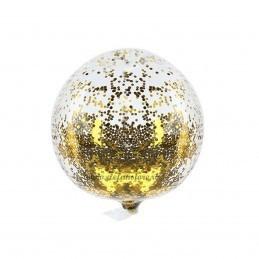 Balon BOBO Cu Sclipici Auriu