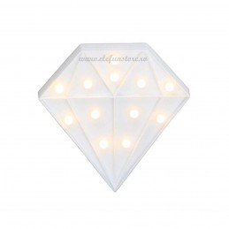 Decoratiune LED Diamant Alb