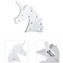 Decoratiune LED Unicorn Alb