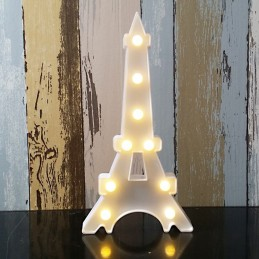 Decoratiune LED Turn Eiffel Alb