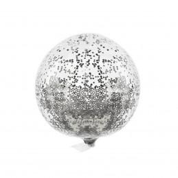 Balon BOBO Cu Sclipici Argintiu