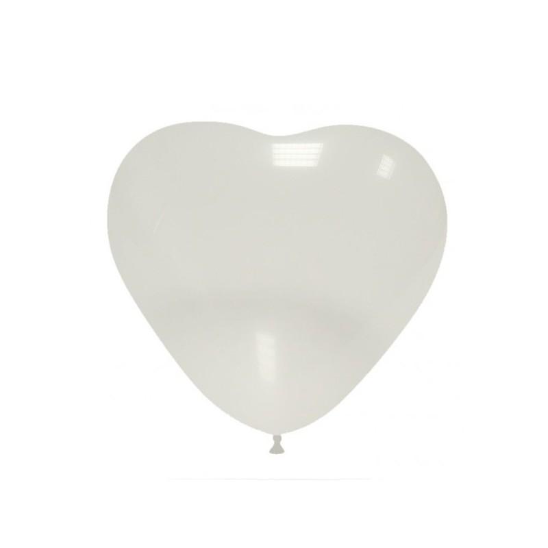 Set 10 Baloane Inima Transparente 26 cm