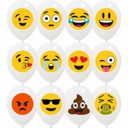 Set 10 baloane Mix Emoji Party