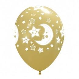Set 10 baloane Semiluni si Stelute Multicolore