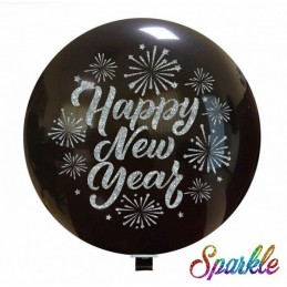 Balon Jumbo cu sclipici Happy New Year