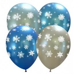 Set 10 baloane metalizate cu fulgi