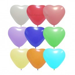 Set 10 Baloane Inima Multicolore 26 cm