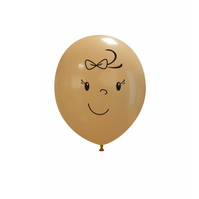 Set 10 baloane Bebelus Fetita 13 cm
