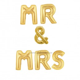Set Litere MR & MRS 40cm Aurii