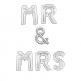 Set Litere MR & MRS 40cm Argintii