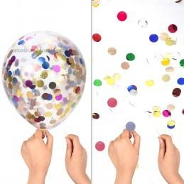 Set 10 Baloane Negre si Confetti Aurii