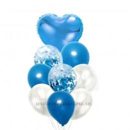 Set 9 Baloane Aniversare Bleu