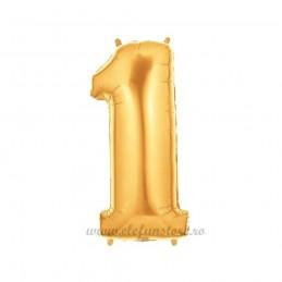Balon Cifra 1 Aurie 100cm