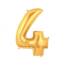 Balon Cifra 4 Aurie 100cm