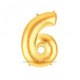 Balon Cifra 6 Aurie 100cm