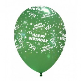 Set 10 baloane Happy Birthday Multicolore
