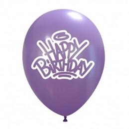 Set 10 baloane Happy Birthday Grafitti