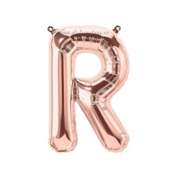 Balon Litera R Rose Gold 40cm