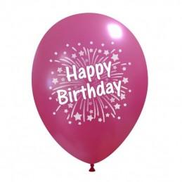 Set 10 baloane Happy Birthday Artificii