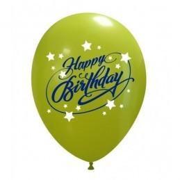 Set 10 baloane Happy Birthday Stelute