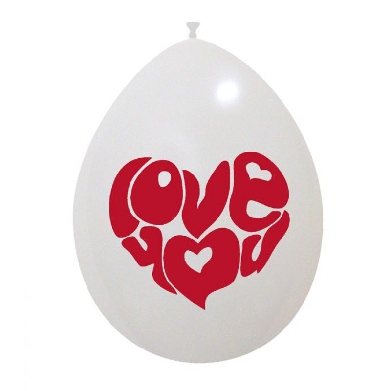 Set 10 baloane Love You 26 cm