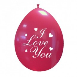 Set 10 baloane I Love You Clasic 26 cm