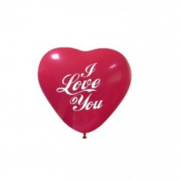 Set 10 baloane inima I LOVE YOU 13 cm