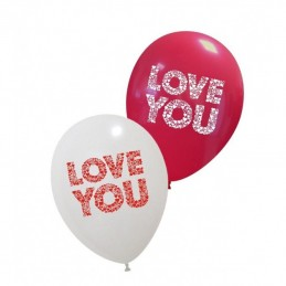 Set 10 baloane Love You 30cm