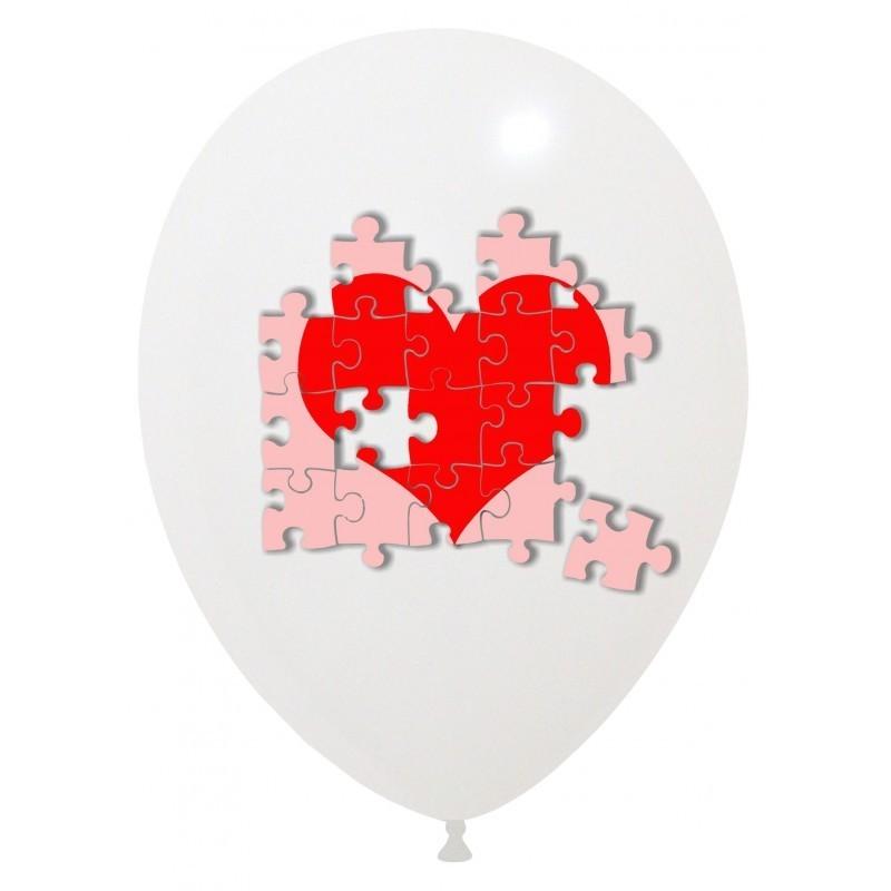 Set 10 baloane Inima Puzzle