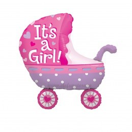 Balon Carucior It's a Girl