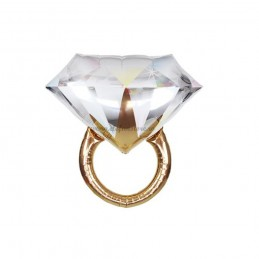 Balon Inel Auriu cu Diamant