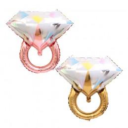 Balon Inel Rose Gold cu Diamant