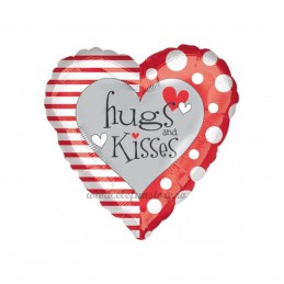 Balon Inima Hugs & Kisses