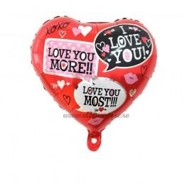 Balon Inima Mesaje LOVE